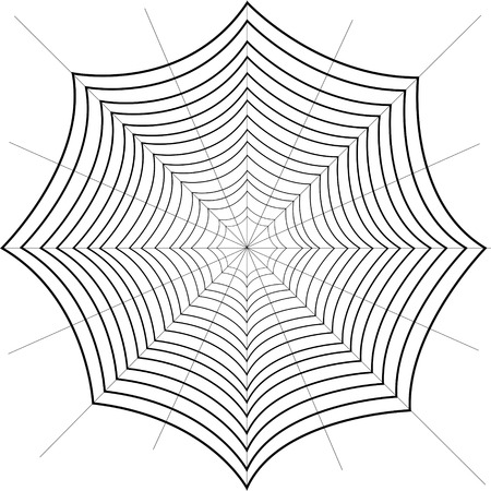 Spider spider from thin threads. Isolated background