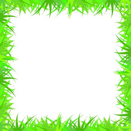 Frame of grass. Herbal frame for collages Ilustracja