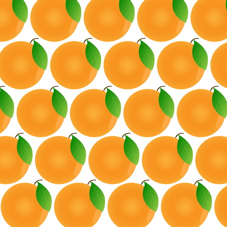 Oranges on a white background. Fruit pattern with isolated oranges