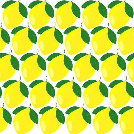 Lemons on white isolated background