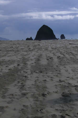 Sleeping Haystack Rock Stock Photo - 2933915