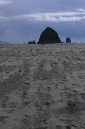 Sleeping Haystack Rock Stock Photo - 2933915