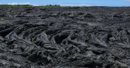 bazalt: Lava flow near Pahoa, Big Island, Hawaii Stock Photo