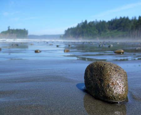 bazalt: A pebble on the Ruby beach Stock Photo