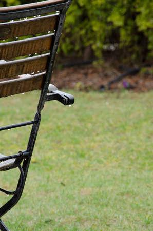 garden furniture: Garden furniture details under rain