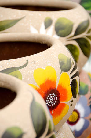 Colorful Mexican ceramic pots in Old Village, San Diego Stock Photo - 16988346