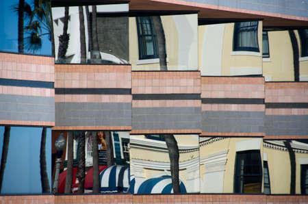La Jolla street reflections in vitrines Stock Photo - 17073239