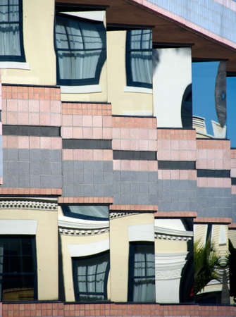 La Jolla street reflections in vitrines Stock Photo - 17071469