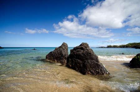 breakaway: Gorgeous skyline at Beach 69, Waialea, Big Island Stock Photo