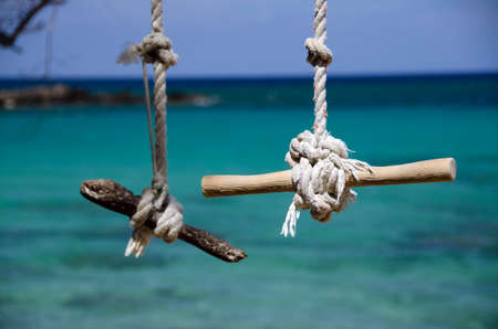 drywood: Swing Ropes and knots at Beach 69, Waialea, Big Island
