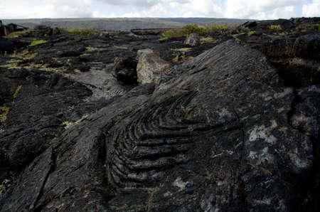 obrero: Superficie del campo de lava cerca de cadena de cr�teres Road, Big Island, Hawai