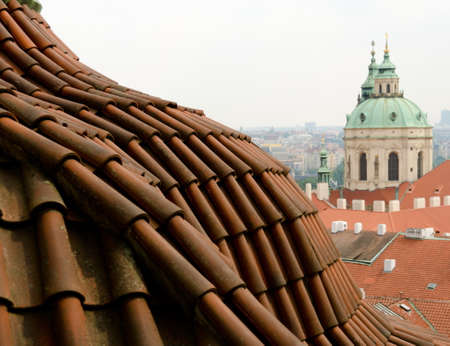st  nicholas cathedral: Arc Tile roof  near St Nicholas Cathedral, Prague