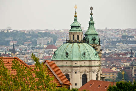 st  nicholas cathedral: Roofs of St Nicholas Cathedral, Prague