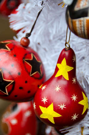 southwestern: Red Christmas tree decorations in Southwestern style in Old town, San Diego Stock Photo