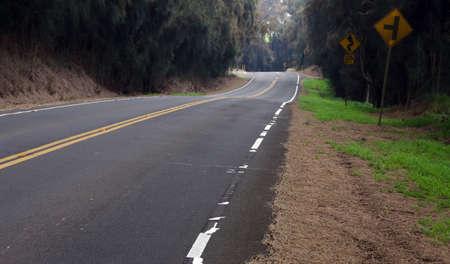 big island: Turns and curves of Kohala Mountain Road, Big Island, Hawaii
