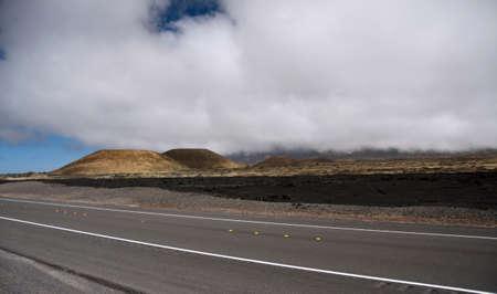 big island: Highway 200 near the turn to observation, Big Island, Hawaii