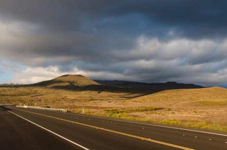 big island: Coming back to Kona sunset on route 200, Big Island, Hawaii
