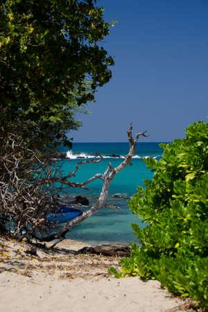 breakaway: Southern end of Puako beach, Big Island, Hawaii