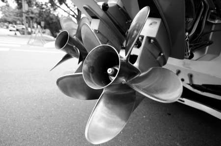 propellers: Double propellers of a motor boat  parked  near rmarina in Kirkland