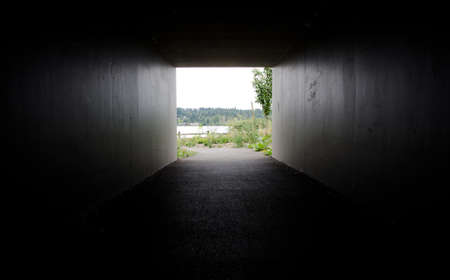 end of the trail: Light at the end of the underpass to Sammamish trail