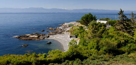 trafalgar: View of bay near Trafalgar park and Maquinna St, Victoria, British Columbia