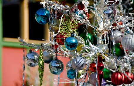 christmas decorations in spanish art village balboa park san diego stock photo 68156700