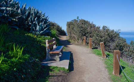dropoff: Morning Walk at  a hill trail near Goldfish Point, La Jolla, near San Diego