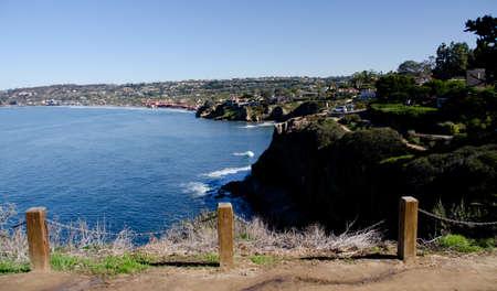 Morning Walk at  a hill trail near Goldfish Point, La Jolla, near San Diego