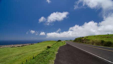 Kohala Mountain Highway between Hawi and Waimea, Big Island, Hawaii