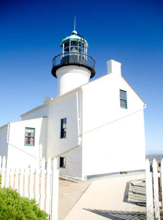 Exterior details of Old Point Loma lighthouse, San Diego