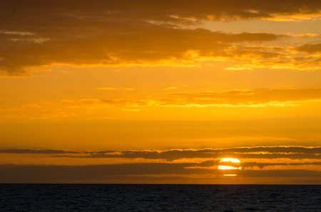 Anaehoomalu Bay Sunset on Big Island Hawaii.