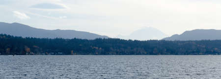 Lake Sammamish with Cougar Mountains and Ranier in background, Washington
