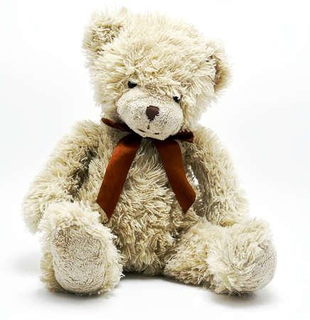oso de peluche: Oso de peluche aislado en blanco Foto de archivo