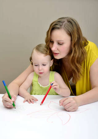 Mother and child painting Stock Photo - 11235184