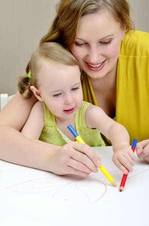 Mother and child painting Stock Photo - 11235194