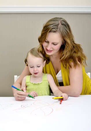 Mother and child painting photo