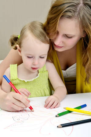Mother and child painting Stock Photo - 11235197