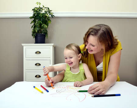 Mother and child painting Stock Photo - 11235183