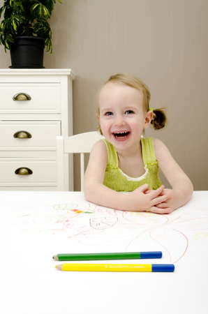 little girl smiling Stock Photo - 11235179