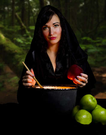 witchcraft: Witch from a fairy tale of Snow White