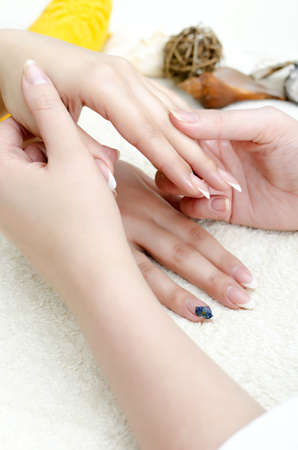 Hands massage in the spa salon photo