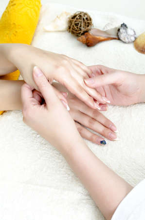 Hands massage in the spa salon Stock Photo - 11756222