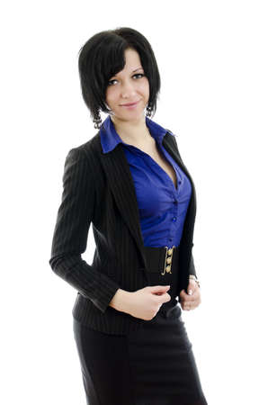 Portrait of a business woman. Over white background. Stock Photo - 12107003