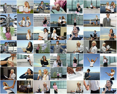 business women: Business collage  Made of 49 photos