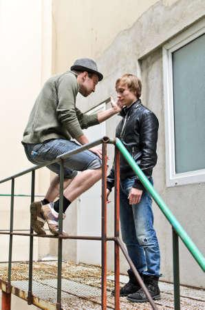 malandros: Mafia. Conversación entre dos matones de la calle.