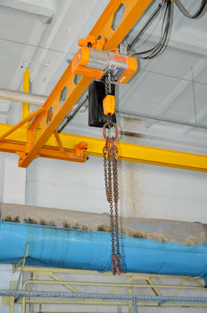 Automatic industrial crane at the plant photo