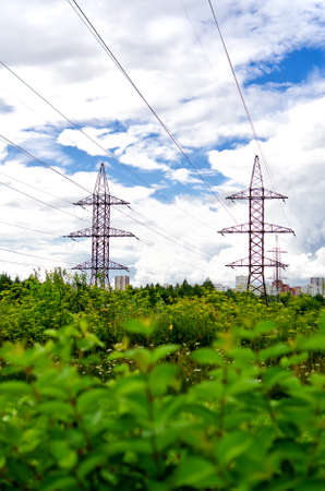 High voltage AC transmission towers  photo