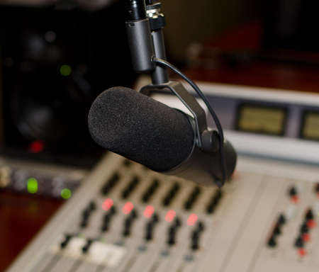 Part of a mixing panel in a radio studio Stock Photo - 15689137