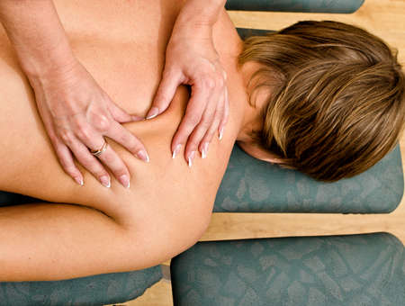 Close up view of female hands doing massage Stock Photo - 15689069