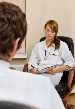 Male patient visiting his psychologist Stock Photo - 15689120